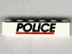 Part No: 3009pb028  Name: Brick 1 x 6 with Black 'POLICE' Red Line Pattern