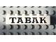Part No: 3009pb030  Name: Brick 1 x 6 with Black 'TABAK' Serif Pattern