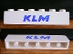 Part No: 3009pb035  Name: Brick 1 x 6 with Blue 'KLM' Pattern