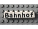 Part No: 3009pb036  Name: Brick 1 x 6 with Black 'Bahnhof' Pattern