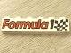 Part No: 3009pb045  Name: Brick 1 x 6 with 'Formula 1' and Checkered Flag Pattern