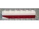Part No: 3009pb102L  Name: Brick 1 x 6 with Dark Red Bottom Stripe Inverted Slope at Left End Pattern - Set 611-2