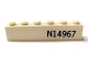 Part No: 3009pb105  Name: Brick 1 x 6 with Black 'N14967' Pattern on Both Sides (Stickers) - Set 7628