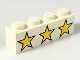 Part No: 3010pb005  Name: Brick 1 x 4 with 3 Yellow Stars Pattern