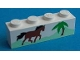 Part No: 3010pb022  Name: Brick 1 x 4 with Horse Running and Palm Tree Pattern