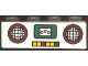 Part No: 3010pb069  Name: Brick 1 x 4 with Radio Pattern (Sticker) - Set 4165