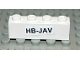 Part No: 3010pb071  Name: Brick 1 x 4 with Black 'HB-JAV' on White Pattern (Sticker) - Set 4032-8