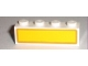 Part No: 3010pb106  Name: Brick 1 x 4 with Brown Rectangle on Yellow Background Pattern (Sticker) - Set 7733