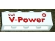 Part No: 3010pb181  Name: Brick 1 x 4 with Red 'Shell V-Power' Pattern (Sticker) - Set 30196