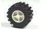 Part No: 30190c02  Name: Wheel Tricycle Center Wide with Stub Axles, with Black Tire Offset Tread Small Wide, Band Around Center of Tread (30190 / 87697)