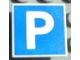 Part No: 30258pb002  Name: Road Sign Clip-on 2 x 2 Square with Parking Pattern
