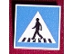 Part No: 30258pb003  Name: Road Sign Clip-on 2 x 2 Square with Crosswalk with Pedestrian Pattern
