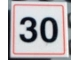 Part No: 30258pb004  Name: Road Sign Clip-on 2 x 2 Square with 30 Pattern