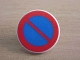 Part No: 30261px5  Name: Road Sign Clip-on 2 x 2 Round with No Parking Pattern