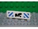 Part No: 30413pb016  Name: Panel 1 x 4 x 1 with Cement Mixer and Blue Stripes Pattern (Sticker) - Set 7990