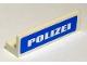 Part No: 30413pb020  Name: Panel 1 x 4 x 1 with White 'POLIZEI' on Blue Background Pattern (Sticker) - Set 7236-2