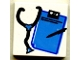Part No: 3068bpb0037  Name: Tile 2 x 2 with Stethoscope and Clipboard Pattern