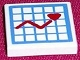 Part No: 3068bpb0117  Name: Tile 2 x 2 with Hospital Graph with Heart Pattern (Sticker)