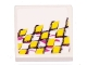 Part No: 3068bpb0149L  Name: Tile 2 x 2 with Yellow Checkered Racing Pattern Left (Sticker) - Set 8131