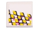 Part No: 3068bpb0149R  Name: Tile 2 x 2 with Yellow Checkered Racing Pattern Right (Sticker) - Set 8131