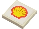 Part No: 3068bpb0150  Name: Tile 2 x 2 with Shell Logo Pattern (Sticker) - Set 6378