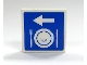Part No: 3068bpb0162  Name: Tile 2 x 2 with Arrow, Plate and Silverware Pattern (Sticker) - Set 7997