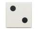 Part No: 3068bpb0192  Name: Tile 2 x 2 with 2 Black Dots Pattern