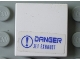 Part No: 3068bpb0309  Name: Tile 2 x 2 with 'DANGER JET EXHAUST' Pattern (Sticker) - Set 7700