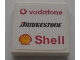 Part No: 3068bpb0322  Name: Tile 2 x 2 with New Vodafone, Bridgestone and Shell Logos Pattern (Sticker) - Sets 8672 / 8673