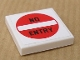 Part No: 3068bpb0329  Name: Tile 2 x 2 with 'NO ENTRY' Pattern (Sticker) - Set 8147