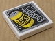 Part No: 3068bpb0332  Name: Tile 2 x 2 with 'LEMON' on Yellow Can and 'Soft Drinks' Pattern (Sticker) - Set 8154