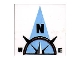 Part No: 3068bpb0354  Name: Tile 2 x 2 with Compass North 'N' in Light Blue Pointer Pattern