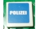 Part No: 3068bpb0389  Name: Tile 2 x 2 with White 'POLIZEI' on Blue Background Pattern (Sticker) Set 7236-2