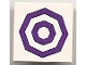 Part No: 3068bpb0390  Name: Tile 2 x 2 with Groove with 2 Dark Purple Octagonal Circles Pattern