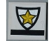 Part No: 3068bpb0437  Name: Tile 2 x 2 with Police Yellow Star Badge Pattern (Sticker) - Set 8186