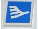 Part No: 3068bpb0459R  Name: Tile 2 x 2 with White Airline Bird Facing Right Pattern  (Sticker) - Set 3182