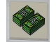 Part No: 3068bpb0464  Name: Tile 2 x 2 with Groove with 2 Stacks of 100 Dollar Bills Money Pattern