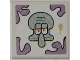 Part No: 3068bpb0508  Name: Tile 2 x 2 with Groove with Squidward Head and Smudge Pattern (Sticker) - Set 3818