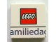 Part No: 3068bpb0607  Name: Tile 2 x 2 with Lego Logo and 'amilieda' Pattern