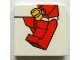 Part No: 3068bpb0611  Name: Tile 2 x 2 with Minifigure Legs and Left Hand Pattern