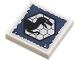 Part No: 3068bpb0686  Name: Tile 2 x 2 with Raptor Silhouette in Black Hexagon on Dark Blue Background Pattern (Sticker) - Set 75920