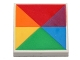 Part No: 3068bpb0691  Name: Tile 2 x 2 with 6 Triangles in Rainbow Colors Pattern