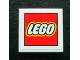Part No: 3068bpb0757  Name: Tile 2 x 2 with Groove with LEGO Logo with Black Border on White Background Pattern (Sticker) - Set 3300003