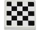Part No: 3068bpb0778  Name: Tile 2 x 2 with Checkered Pattern (Sticker) - Set 60019