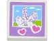 Part No: 3068bpb0783  Name: Tile 2 x 2 with Hearts and Friends Horse and Rider Pattern (Sticker) - Set 3185
