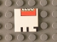 Part No: 3068bpb0799  Name: Tile 2 x 2 with LEGO Logo Lower Half and 'UT' Upper Half Pattern