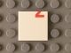 Part No: 3068bpb0807  Name: Tile 2 x 2 with Red '2' Lower Half Pattern