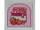 Part No: 3068bpb0818  Name: Tile 2 x 2 with Strawberry Preserves Pattern