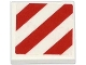 Part No: 3068bpb0840  Name: Tile 2 x 2 with Groove with Red and White Danger Stripes Pattern (Sticker) - Set 79118