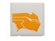 Part No: 3068bpb0860R  Name: Tile 2 x 2 with Bright Light Orange Sando Aqua Monster Pattern Model Right Side (Sticker) - Set 75048